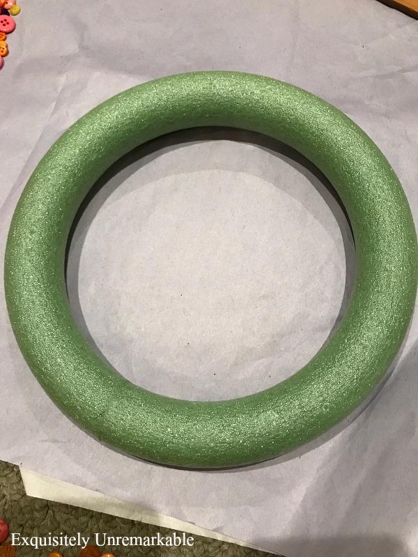 Green Foam Wreath