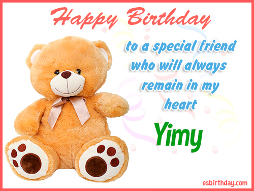 Yimy Happy birthday friend