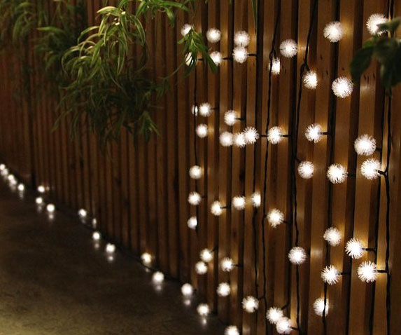 Create an enchanting nighttime environment without spending a fortune on your electric bill by using these solar powered LED string lights. The solar panel charges the lights throughout the day and features a built-in sensor that automatically activates at dusk.