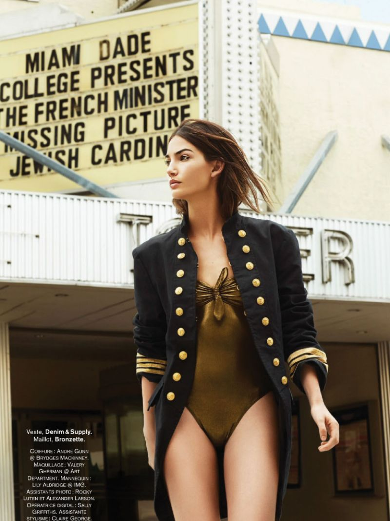 Lily Aldridge for Glamour Paris July 2014