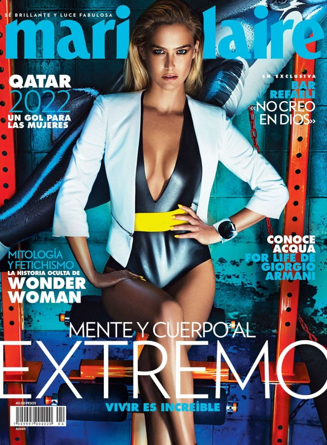 Bar Refaeli covers Marie Claire Mexico April 2015