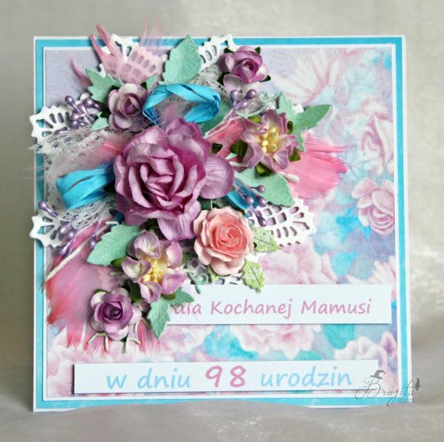 kartka składak, urodziny, wyjątkowy prezent dla babci, kartka w pudełku, urodzinowy komplet, dla niej, AltairArt , inspiracje Made of Stars, kartka dla mamy
