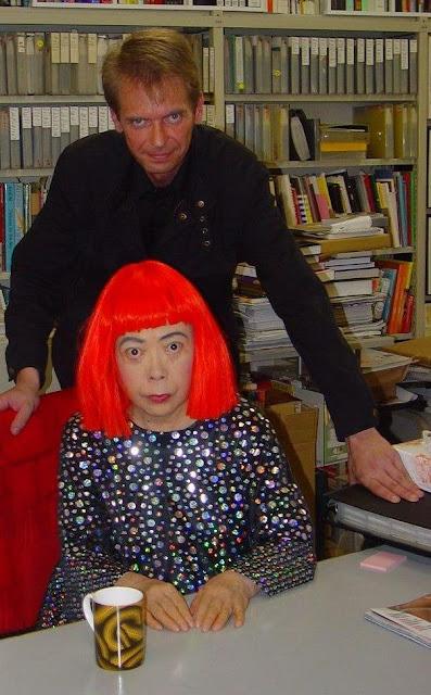 Klaus Guingand & Yayoi Kusama - 2005 - Tokyo - Japon. Yayoi Kusama studio © Muriel Bonel