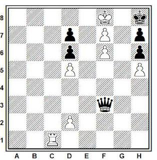 Estudio artístico de ajedrez compuesto por V. A. Korolkov (5º Premio, Schajmaty, URSS 1939)