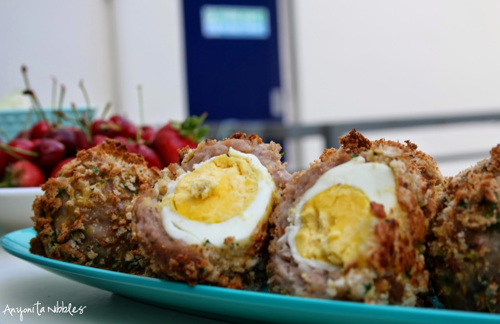 Perfect for a picnic: a tray of homemade Scotch eggs from Anyonita Nibbles