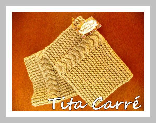 9747c8295d92a Tita Carré Agulha e Tricot   Boot Cuff com ponto trançado em 3 D em ...