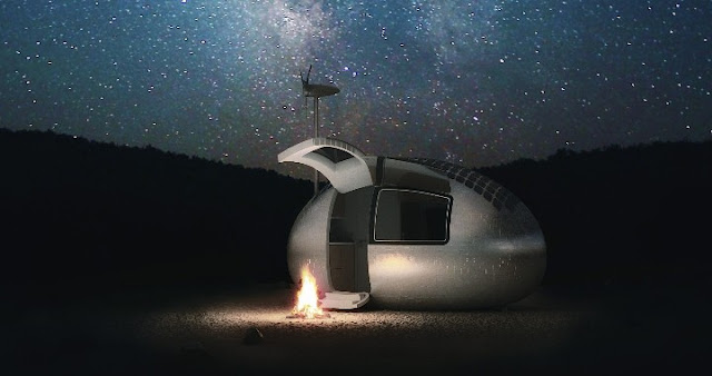camping with ecocapsule campfire