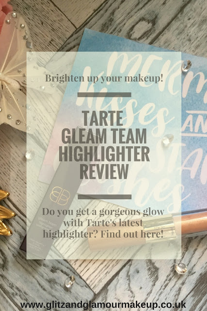 tarte gleam team highlighter review pinterest