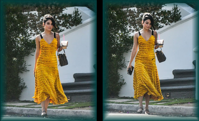 Vanessa Hudgens in a Yellow summer Dress