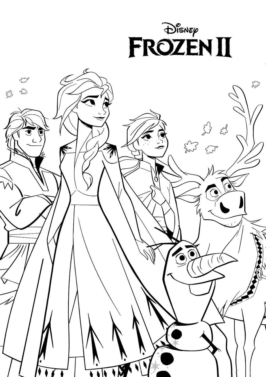 Tranh tô màu Elsa và Anna 15
