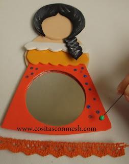 Manualidades con espejos y goma eva cositasconmesh - Manualidades espejos decorados ...
