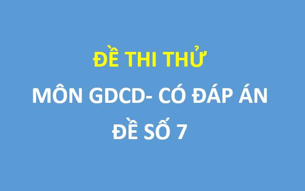 Đề thi thử THPT Quốc gia 2019 môn GDCD sở GD&ĐT Bắc Ninh