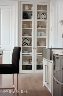 kitchen glass display cabinet
