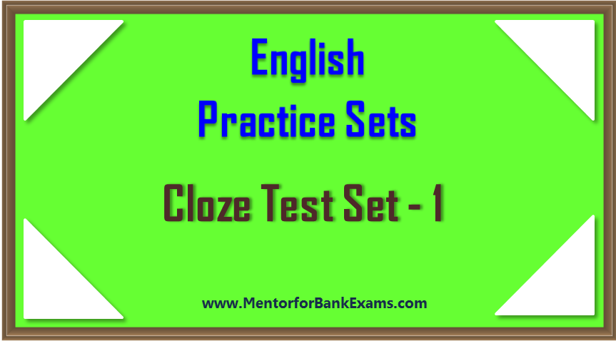 Mentor for Bank Exams - SBI,IBPS,SSC,RRB Exams 2019