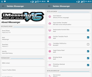 BBM MOD iMessenger V6 v3.0.0.18 Apk Unclone