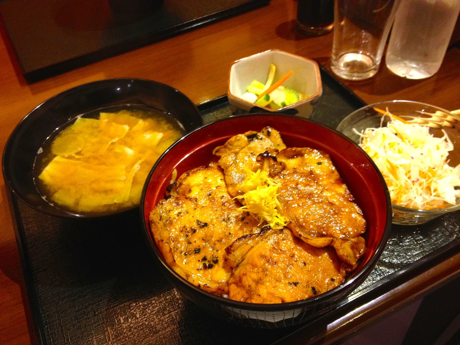 Pork Bowl set at Obihiro Butadon