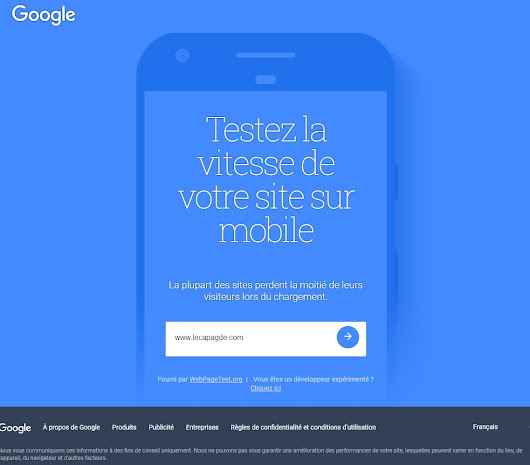 test Google vitesse de sites pour mobile fonctionne pas bug