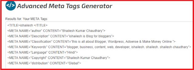 Copy Meta tags
