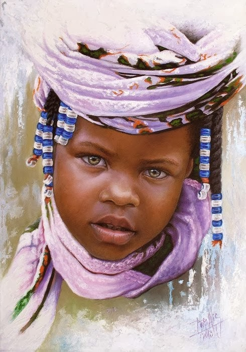 20 Beautiful African Children Paintings By Dora Alis