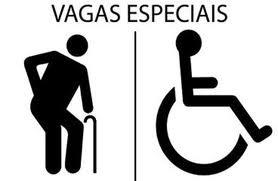 Resultado de imagem para estacionamento para pessoas com necessidades especiais ou idosos