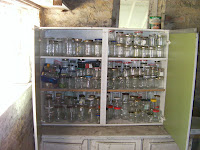 cupboard full of jam jars