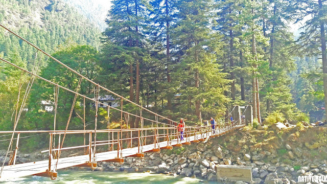 This bridge connects chalaal to kasol