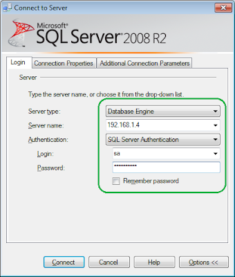 SQL Management Studio Connection Properties
