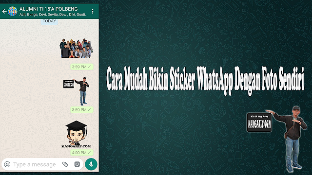 Kang Arif - Ada yang sudah mencoba Bikin Sticker WhatsApp Dengan Foto Sendiri Belum? Kalo belum sih, kebetulan diartikel ini Kang Arif akan share bagaimana cara membuat sticker dari foto kamu sendiri.