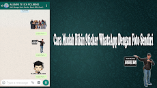 Cara Mudah Bikin Sticker WhatsApp Dengan Foto Sendiri