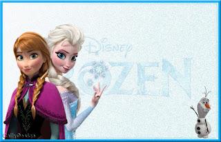 Para hacer invitaciones, tarjetas, marcos de fotos o etiquetas, para imprimir gratis de Frozen con Nieve