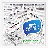 contoh iklan baris rumah dijual di koran