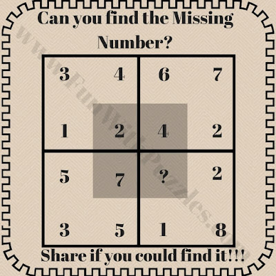 Mind breaking math square puzzle question