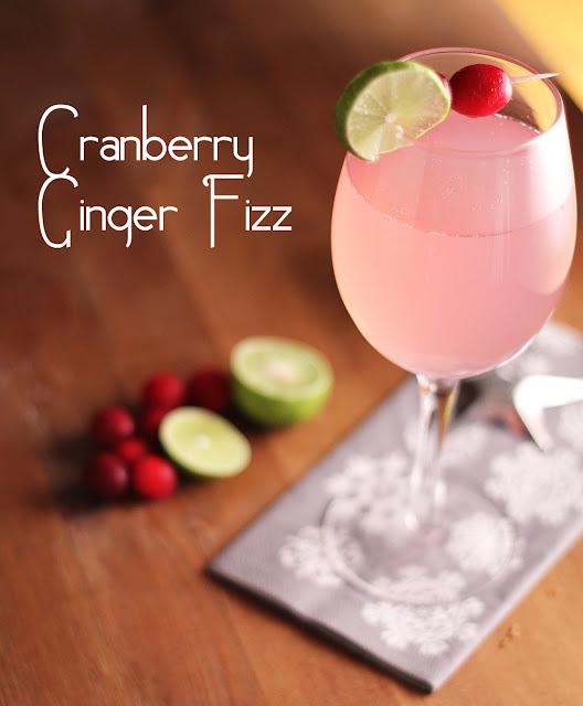 Cranberry Ginger Fizz | sweetpeasandsaffron.com
