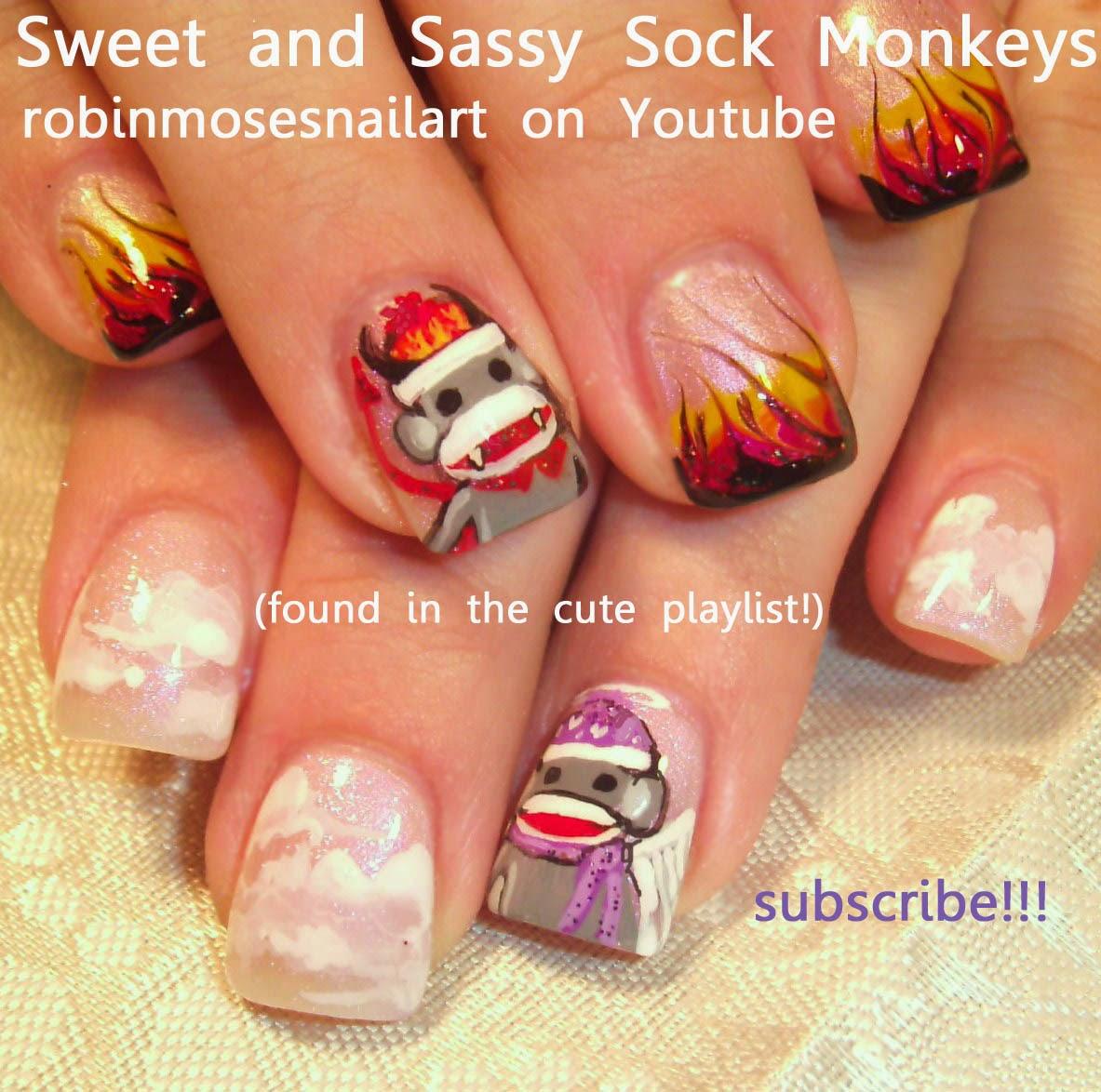 "Robin Moses Nail Art: ""monkey nails"" ""monkey nail art ..."