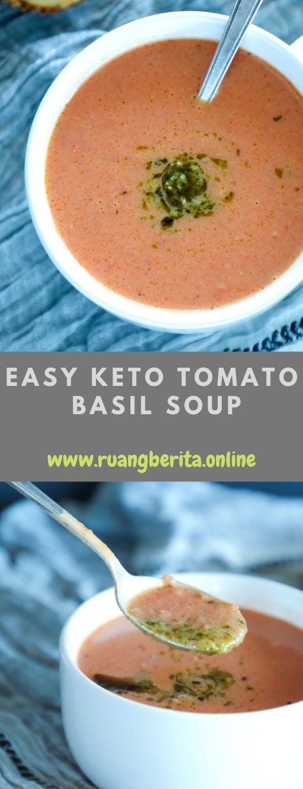Easy keto tomato basil soup