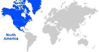 Gambar Peta letak Amerika Utara