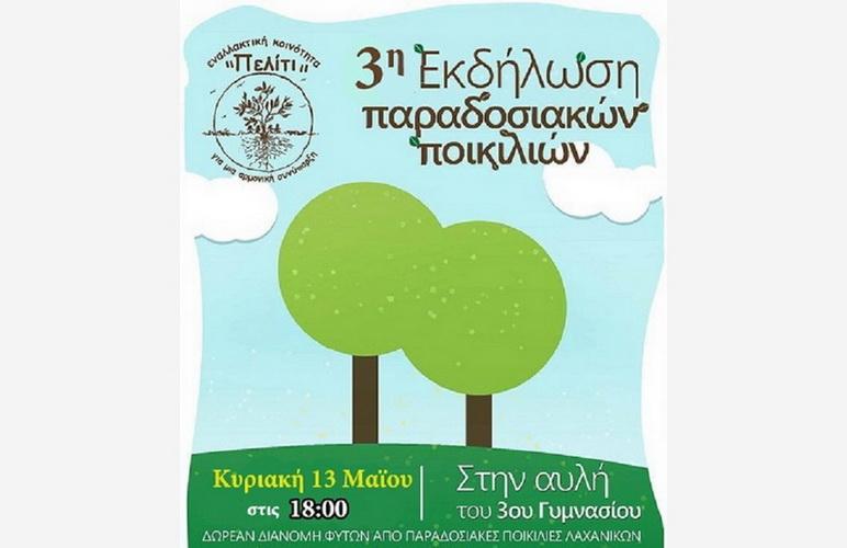Δωρεάν διανομή φυτών από παραδοσιακές ποικιλίες στην αυλή του 3ου Γυμνασίου Αλεξανδρούπολης