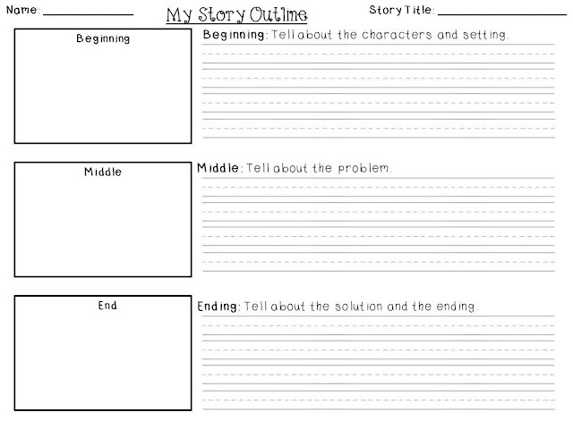 For the Love of First Grade FREEBIE Friday {Writing Templates} - blank writing sheet