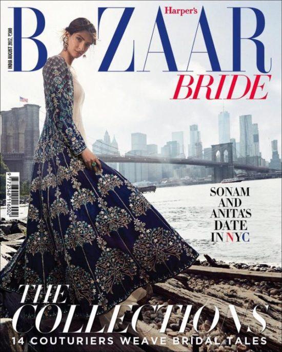 Sonam Kapoor On The Cover of Harpers Bazaar Bride Magazine India August 2017