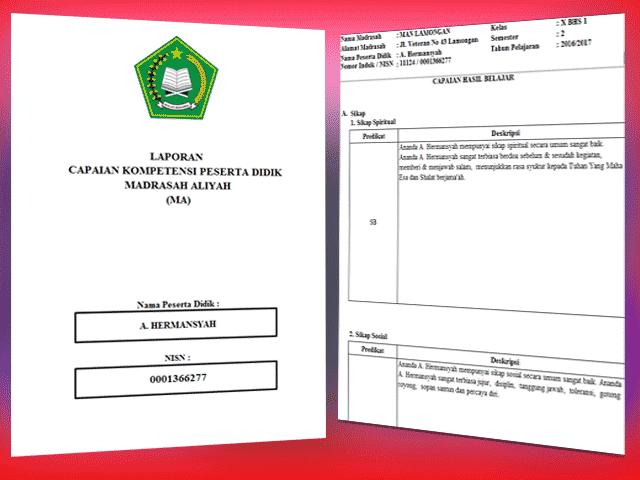 Aplikasi Pengolahan Nilai Kurikulum 2013 Madrasah Aliyah ( MA ) Sesuai Permen No 53