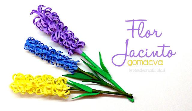 Haz Flores De Jacinto En Goma Eva Foamy Manualidades