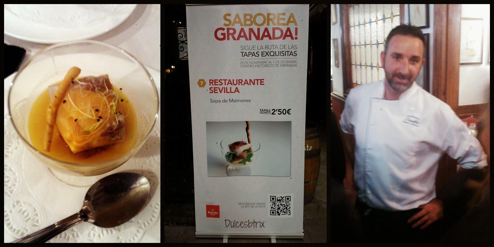 Dulces btrix saborea granada 2013 ruta de tapas - Restaurante oryza granada ...