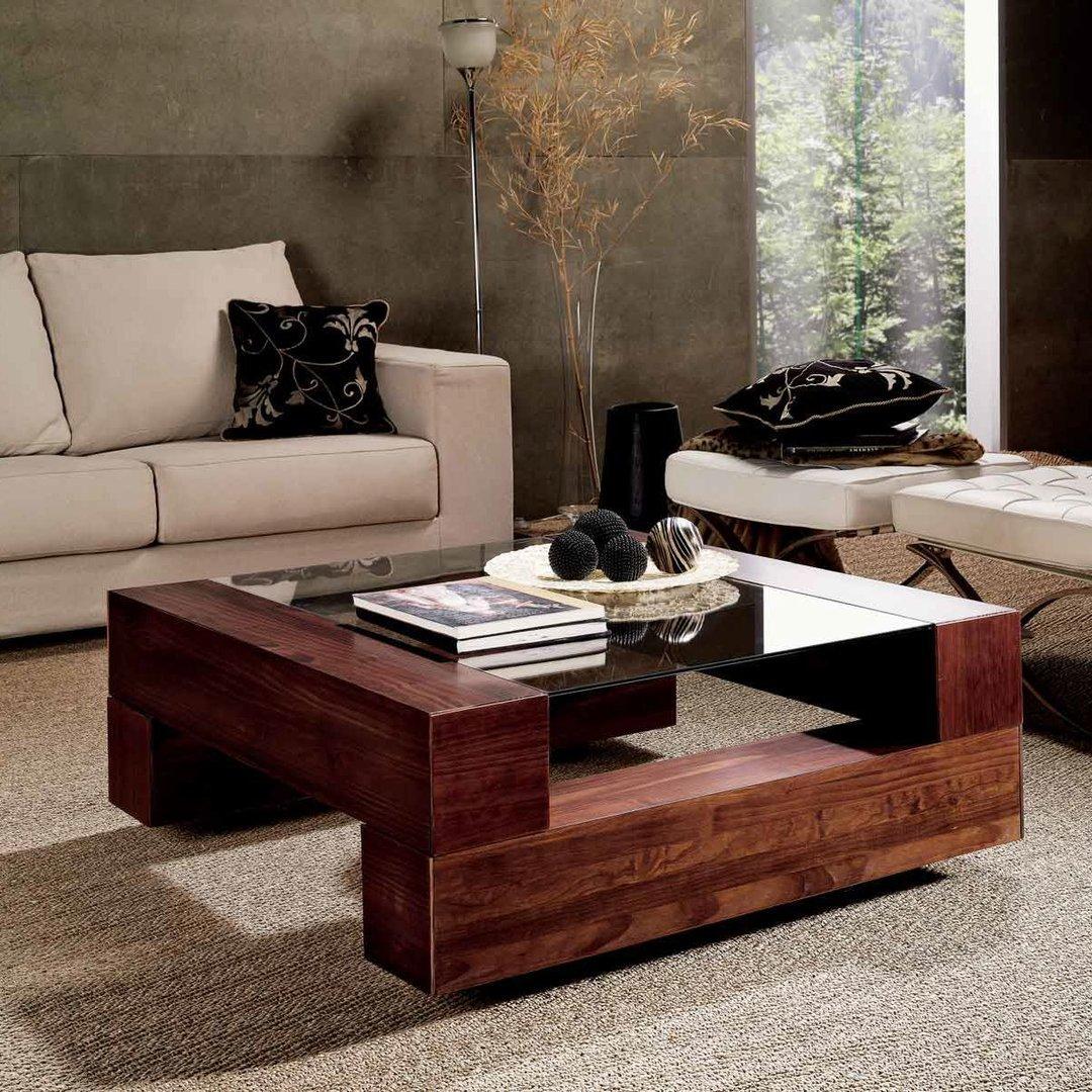 Muebles de sal n mesas en madera de pino para dar calidez for Mesas de madera para salon