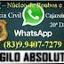 Polícia Civil de Cajazeiras Lança através do NRF número de WhatsApp para auxiliar no combate a roubos e furtos