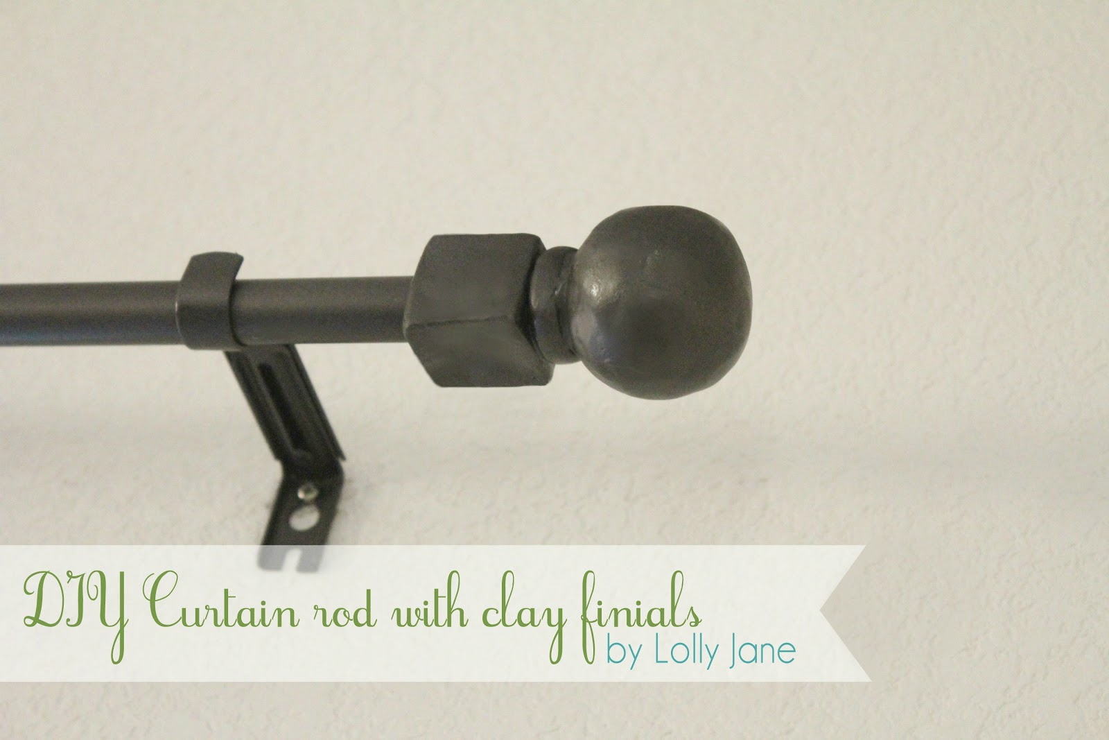 We Are Excited To Share Our DIY Curtain Rod Clay Finials With You Today