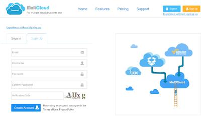 Создание аккаунта на MultCloud.com