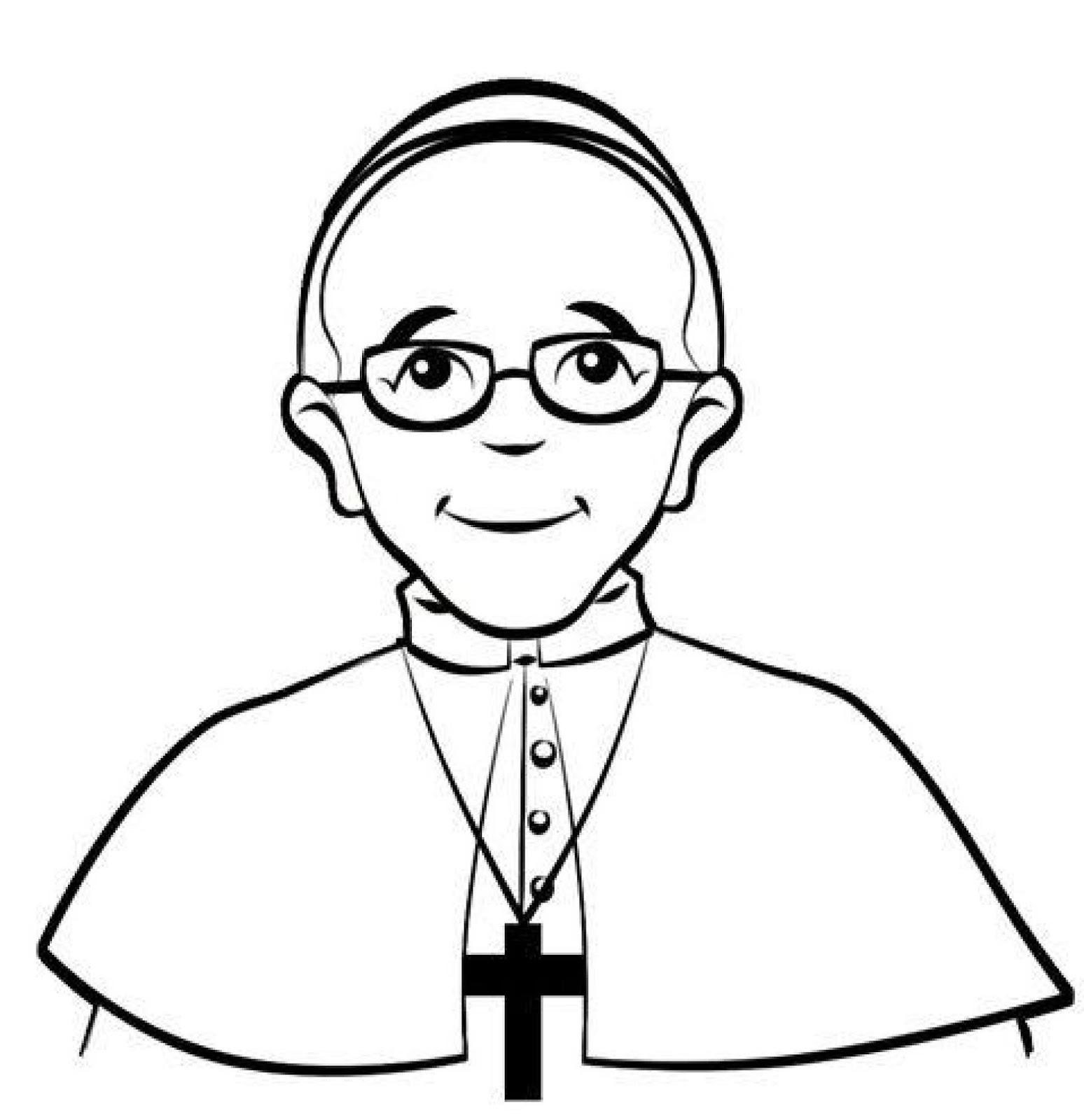 Andaray: Colorea enero 2018: Papa Francisco