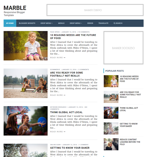 Marble - Personal Blogger Template