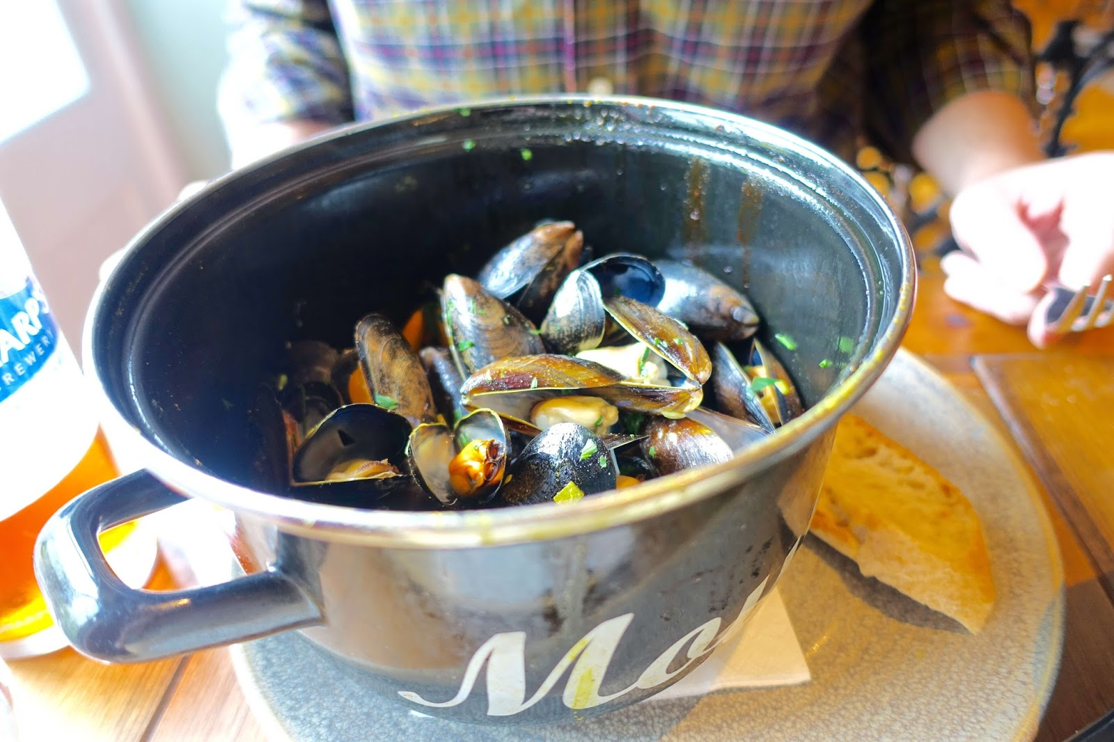 British rope-grown mussels steamed with marinière or saffron mouclade sauce