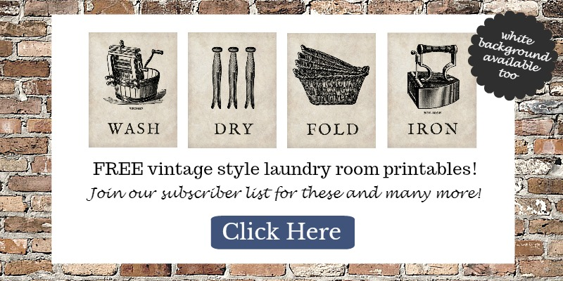 These vintage laundry room printables are perfect!